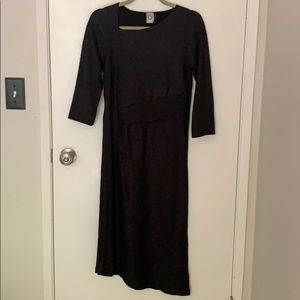 Anthropologie Akemi + Kin black metallic dress